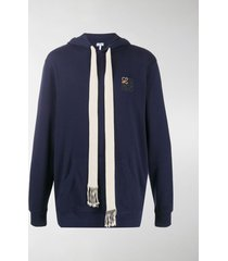 loewe embroidered logo cotton hoodie