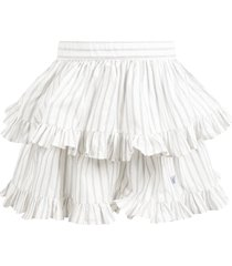 philosophy di lorenzo serafini white skirt for girl with logo
