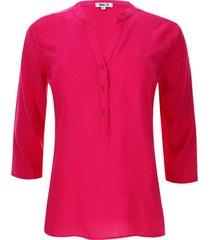 blusa unicolor color rosado, talla l