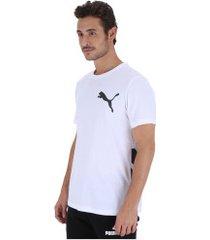 camiseta puma big logo - masculina - branco