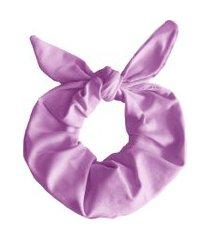 scrunchie banana rosa scrunchie de cabelo lilás