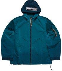 men's aries ombre dyed hooded tech windbreaker jacket