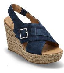 w claudeene sandalette med klack espadrilles blå ugg