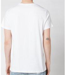 balmain men's printed & rubber t-shirt - white - s