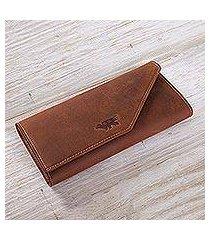 leather wallet, 'inca hummingbird' (peru)