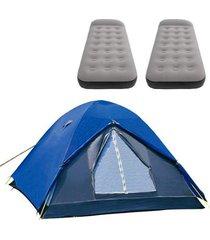 barraca de camping iglu nautika + 2 colchões solteiro inflável aveludado star