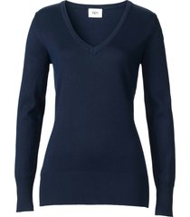 maglione con scollo a v (blu) - bpc bonprix collection