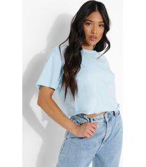 petite kort t-shirt, pale blue