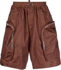 dsquared2 multi-pocket bermuda shorts - brown