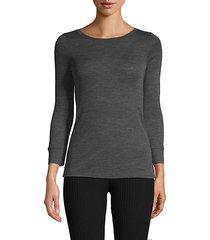 three-quarter sleeve wool top