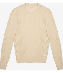 chevron sweater neutral 40
