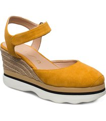 lambada_ks sandalette med klack espadrilles gul unisa