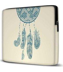 capa para notebook isoprene filtro dos sonhos 15.6 e 17 polegadas com bolso feminina - feminino