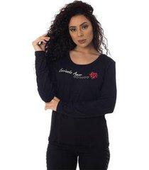 t-shirts daniela cristina gola u profundo 29 10265 3 preto - preto - pp - feminino