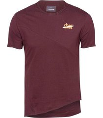 camiseta unicolor corte asimétrico para hombre freedom 00793