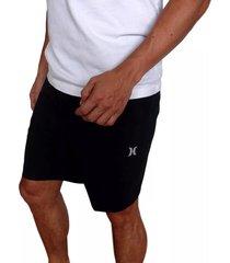 pantaloneta hurley alpha trainer plus threat para hombre - negro