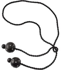 acacia wood with silver round dangling necklace, women's, josie natori