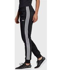 pantalón de buzo adidas performance w e 3s pant tri negro - calce ajustado