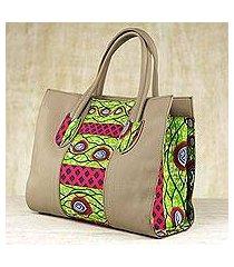 cotton shoulder bag, 'adrinkra eyes' (ghana)