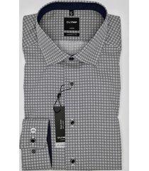 olymp heren overhemd luxor marine print kent modern fit poplin