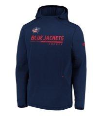 majestic columbus blue jackets men's locker room rink hoodie