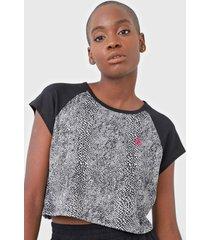camiseta cropped volcom snakebit preta - preto - feminino - dafiti