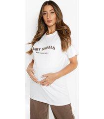 zwangerschap oversized gebleekt smalls t-shirt, ecru