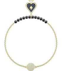 pulsera swarovski  tennis deluxe, azul claro, baño de rodio 5536469