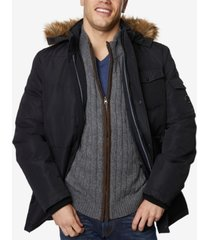 nautica men's big & tall quilted hooded parka