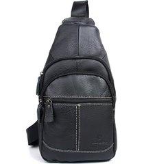 mochila/ bolsos cuero genuino bolsos de diseño bolso-negro