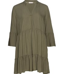 carmarrakesh 3/4 tunic dress solid tunika grön only carmakoma