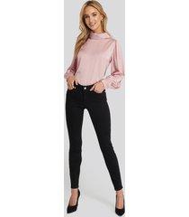 na-kd skinny low waist jeans - black
