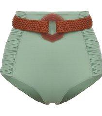 johanna ortiz captivation belted bikini bottoms - green