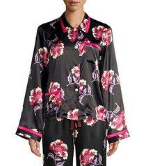 ruthie floral silk pajama top