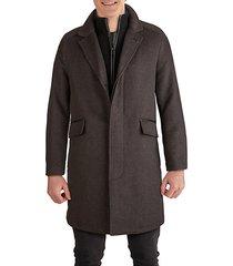 novelty wool classic topper coat