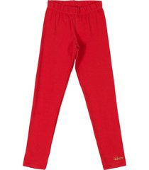 calã§a legging em cotton quimby vermelho - vermelho - menina - dafiti