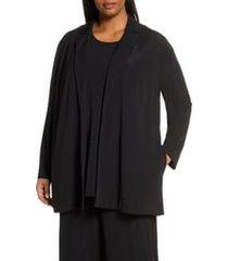 plus size women's lafayette 148 new york rainey open front jacket