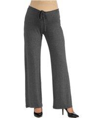 24seven comfort apparel women's comfortable drawstring maternity lounge pants