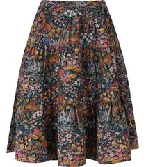 bonpoint black skirt for girl with flowers