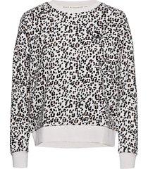 classics graphics aop crew sweat sweat-shirt tröja grå puma