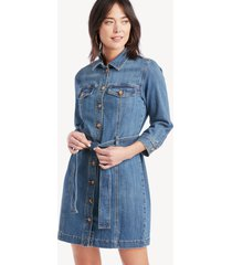 sanctuary denim women's rhea shirt dress in color: pure spar size large from sole society