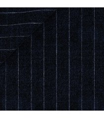 pantaloni da uomo su misura, loro piana, gessato classico blu, quattro stagioni | lanieri