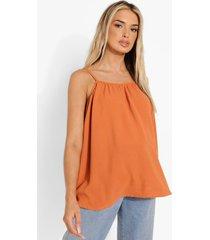zwangerschap geweven linnen swing hemdje, orange