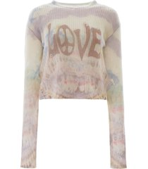 amiri tie-dye love sweater