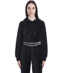 alexander wang sweatshirt in black cotton