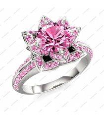 14k gold over 925 silver disney princess snow white pink stunning wedding ring