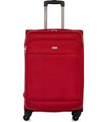 maleta de viaje mediana en lona con cuatro ruedas giratorias 94873