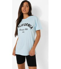 california t-shirt, pale blue