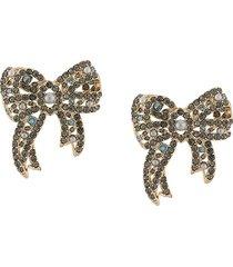 marchesa nightingale short earrings - blue