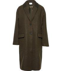 vicallee wool coat/su/des wollen jas lange jas groen vila